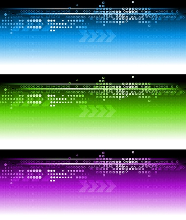 Set of vector technical banners. Eps 10 Stock Vector - 9378224