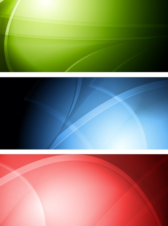 Set of colourful wavy banners. Vector illustration eps 10 Vector
