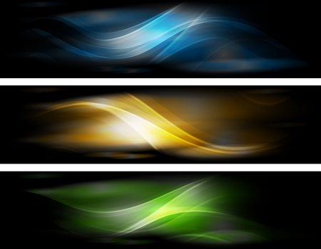 Set of elegant iridescent banners. Eps 10 vector illustration Vector