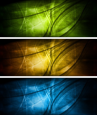 Set of grunge style banners Vector