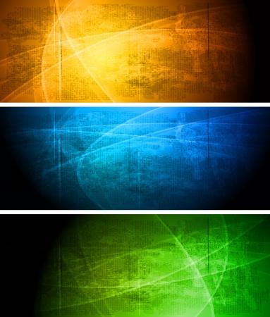 gradient: Sada zářivých grunge a nápisy