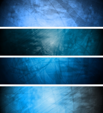 Vector textural banners in grunge style. Eps 10 Stock Vector - 9503941