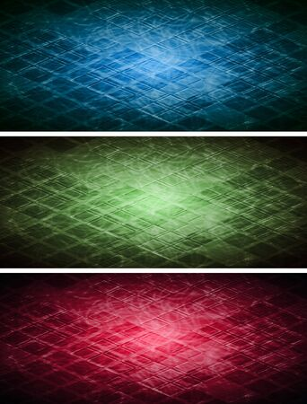 gradient  blue: Set of abstract banners with square texture Illustration