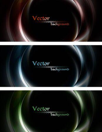vector banners: Set of dark vector banners. Eps 10