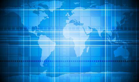 Vector background tecnico con texture mappa mondo. 10 EPS