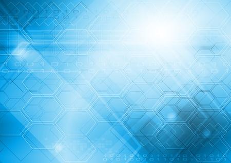 hitech: Hi-tech blue background.