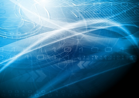 technical abstract: Abstract wavy technical background.  Illustration
