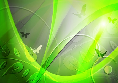Abstract green environmental background.  Stock Vector - 9819404
