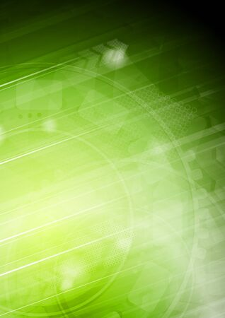 curvas: Dise�o de luz verde en el estilo de alta tecnolog�a.