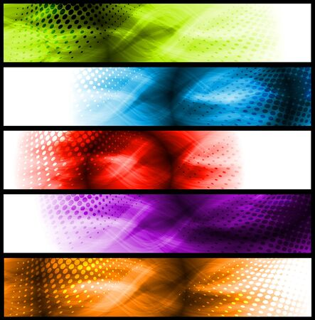 Set of simple colourful headers. Eps 10 vector Vector