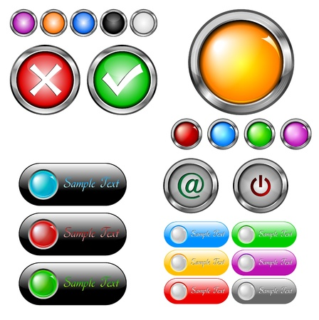 Big set of different buttons  Vector