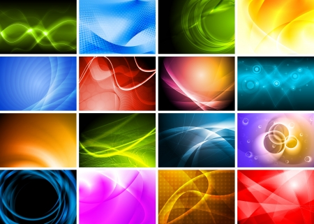 backgrounds: Collection of abstract multicolored backgrounds