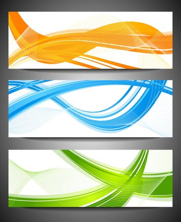 Abstract waves on white background Vector