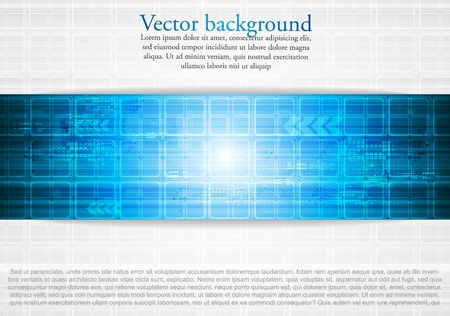 Hi-tech blue background. Vector illustration eps 10 Vector