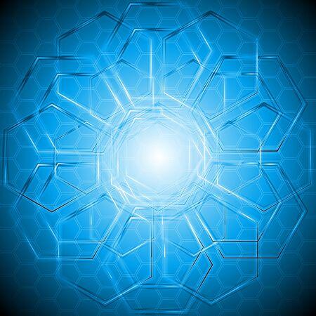 Blue technical design. Stock Vector - 10576855