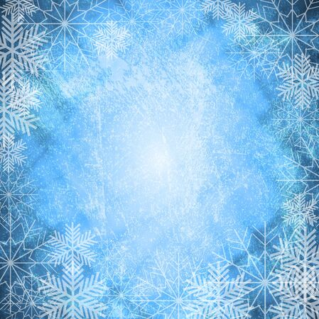 Grunge Xmas background with snowflakes.  Stock Vector - 10576859