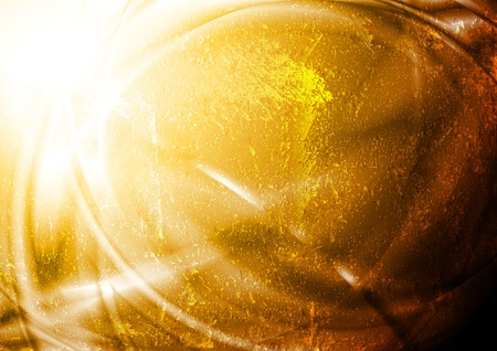 Bright golden design. Grunge style Illustration