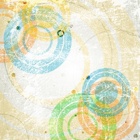 vintage art: Abstract retro background. Vector eps 10