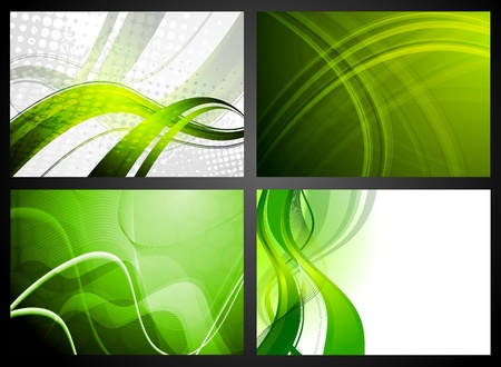 Four colorful backgrounds.