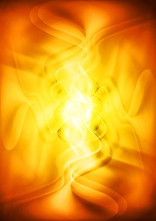 Bright orange background.  Stock Vector - 11084955