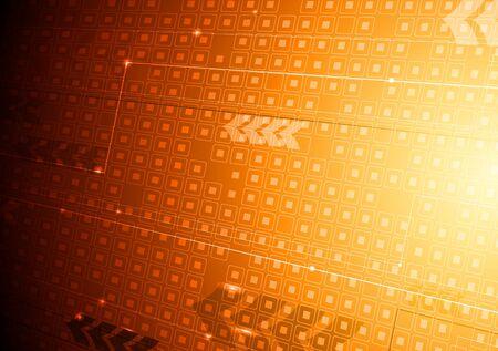 Bright orange hi-tech design with arrows.  Stock Vector - 11084958