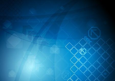 Blue technical design. Vector
