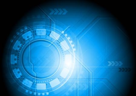 hitech: Blue hi-tech background. Vector illustration eps 10