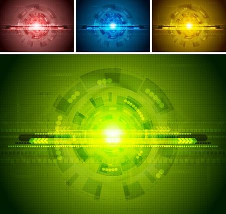 hitech: Colorful hi-tech backgrounds. Vector illustration eps 10 Illustration