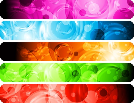 Set of colorful abstract headers. Vector background Stock Vector - 12211601