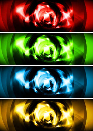 Set of colorful banners. Eps 10 vector Vector