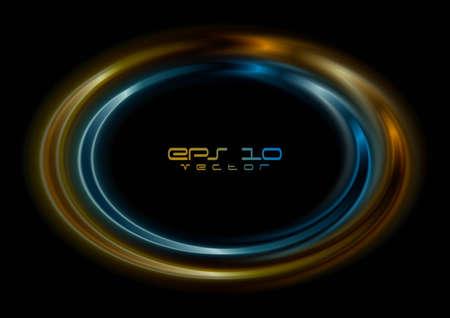 elipse: Azul y la elipse de color naranja. Vector EPS logo 10