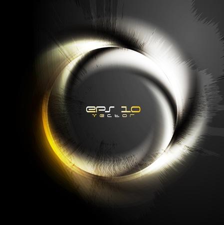 Stylish glossy ring on grunge background  Vector design eps 10