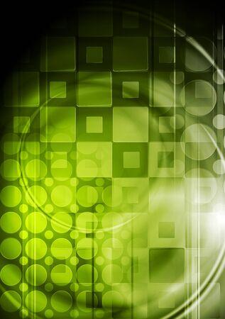 Green tech background. Stock Vector - 13205334