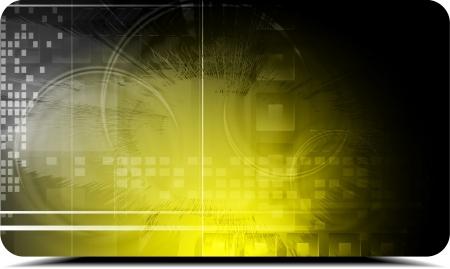 hitech: Yellow hi-tech background