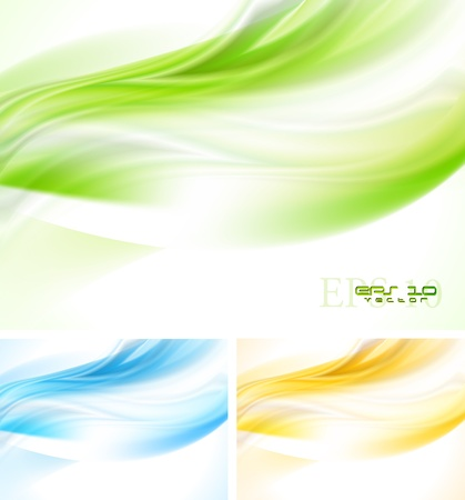 Bright wave backgrounds. Vector