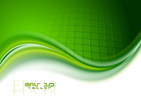 green abstract: Abstract wave background