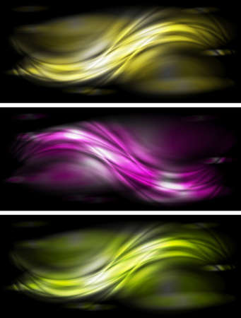 Set of abstract glossy banners  Illustration