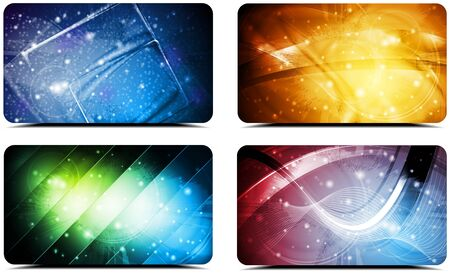 Set of abstract colourful cards  Vector background eps 10 Stock Vector - 14395945