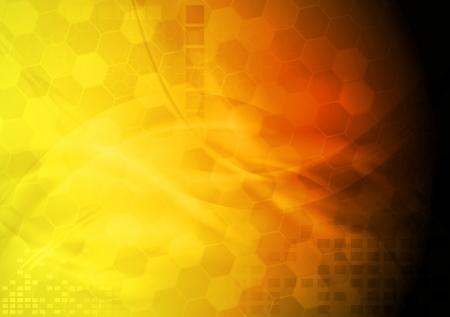 Bright yellow hi-tech background Stock Vector - 14476553