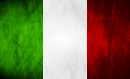 Grunge illustration of Italian flag.