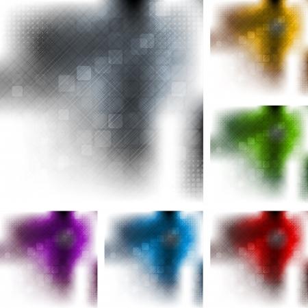 hitech: Set of hi-tech vector backgrounds