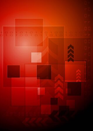 Bright red technology background  Vector illustration Vector
