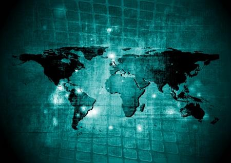 Grunge vector map background Illustration