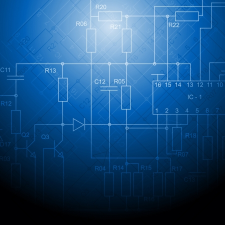 circuitry: Abstract electrical scheme background design Illustration