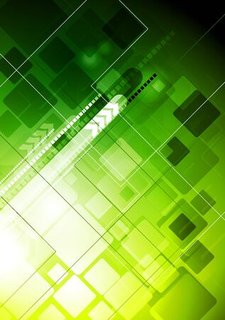 green power: Abstract hi-tech background with arrows