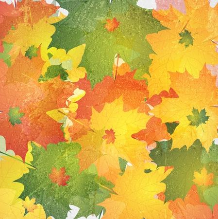 Bright autumn background. Grunge style Vector