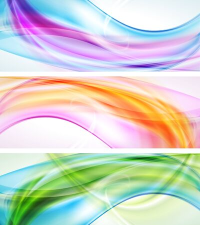 Set of abstract multicolored banners Stock Vector - 14959892