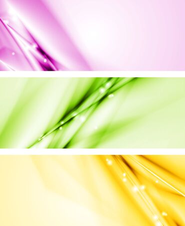 Bright vector banners  Vector