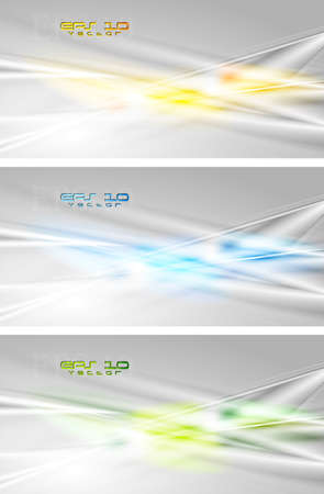 Set of abstract modern banners   Vector