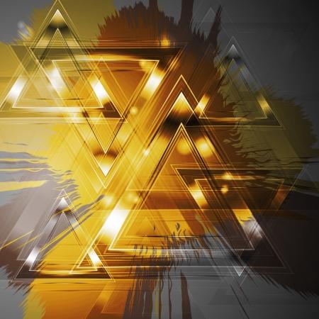 triangulo: Fondo abstracto del grunge